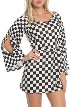 6ce2d68f72 La Class Charlie Dress in Checkers - Beyond the Rack  24.99