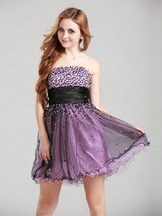 Strapless Short Homecoming Dress