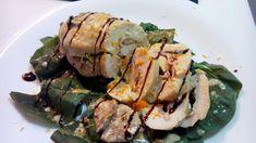 Pechugas de pollo rellenas de jamón cocido y crema de boletus – Petti di pollo farciti italian food, italian recipes, comida italiana, cocina italiana