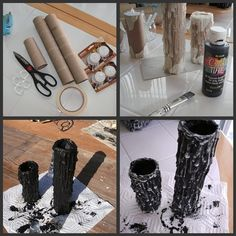 DIY Halloween Candles by blackicelycanStudio Slyter: DIY Halloween Candles these are cool!DIY Halloween Candles Links a bust but the pictures are pretty self-explanatory.DIY Halloween Candles from tea lights and paper towel tubesDIY Halloween Candles Soirée Halloween, Adornos Halloween, Halloween Candles, Holidays Halloween, Halloween Clothes, Halloween Costumes, Decoration Haloween, Halloween Decorations Diy Easy, Spooky Decor