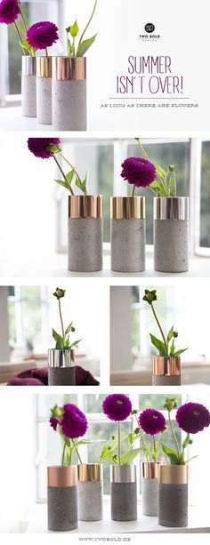 Beautiful Copper & Concrete Vase - Handmade in Germany -
