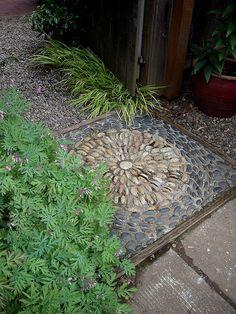 pebble threshold by lehua_mc, via Flickr pebble mosaic