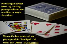 Now stop the finding the best dealers and supplier who provide latest and unique cheating gadgets like spy cheating cards, playing cards, Marked Cards, Invisible Marked Cards, Soft contact lenses and secret contact lens. Action India Home Product presents best quality spy playing cards in Chandigarh for all card games. User can make lots of money by using our latest spy cheating playing cards. These cards have some secret invisible marks which are printed by invisible ink technology.