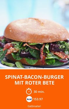 Spinat-Bacon-Burger mit Roter Bete