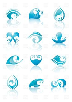 wave Clip Art | ... splashes, waves and drops, download royalty-free vector clipart (EPS