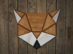 Geometric Fox Head Wall Decor