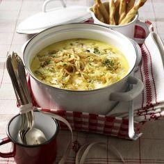 Zwiebel-Rahm-Senf-Suppe Rezept Mehr