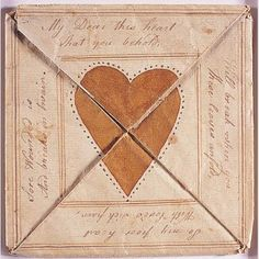 """LOVE TOKEN FOR SARAH NEWLIN/ Artist unidentified, Pennsylvania, United States, 1799, ink and watercolor on paper, 4 9/16 × 4 9/16"""", collection American Folk Art Museum, gift of J. Randall Plummer and Harvey S. Shipley Miller, 2007.24.1B. Photo credit: John Parnell."""