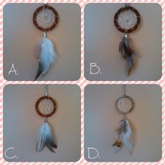 Handmade dream catcher necklaces or keychains $13 Etsy listing at https://www.etsy.com/listing/216942549/hand-made-dream-catcher-necklace-and-or