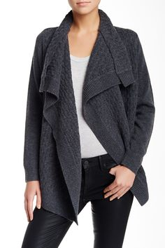 Brick Texture Long Wool & Cashmere Blend Cardigan by VINCE. on @HauteLook