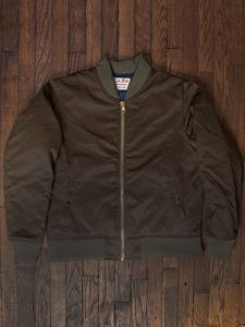 Left Field NYC | Olive Green Twill Flight Jacket