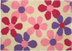 Scattered Floral Pastels Rug Anchor Pure New Wool Rug Kit Kit contains rug canvas, full instructions and wools Size: 96 x 68 c Scatter Rugs, Latch Hook Rug Kits, Rug Hooking, Wool Rug, Pastels, Projects To Try, Kids Rugs, Pure Products, Floral