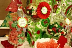 Candy at a Red and Green Christmas Party #redgreen #party