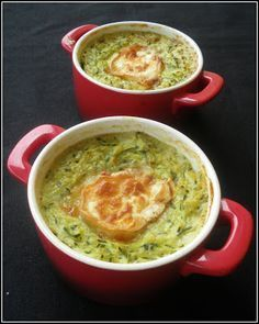 Gratin de courgettes au chèvre ~ Zucchini and Goat Cheese Bake Veggie Recipes, Vegetarian Recipes, Healthy Recipes, Food Porn, Salty Foods, Healthy Cooking, Food Inspiration, Love Food, Food And Drink