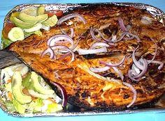 pescado sarandeado. Eaten this in San Blas, Nayarit Mexico. It was Marlin.