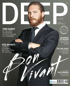 Sexiest Men Alive Network - Tom Hardy on the cover of DEEP magazine