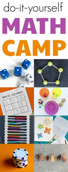 Complete activity lesson plans for a budget friendly fun DIY summer math camp for kids. Good for summer learning with friends. #teachingkidsmath