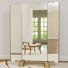 Global Views created the best dressing mirror - As pretty closed as it is open! #hpmkt #hpmktss #cryptonhome