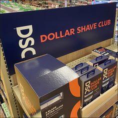 Dollar Shave Club Endcap Display Dollar Shave Club, Retail Fixtures, Tidy Up, Visual Merchandising, Shaving, Display, Orange, Color, Floor Space