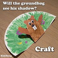 groundhog day craft ideas groundhog day crafts print your groundhog template at 4586