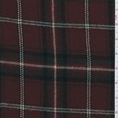 Cranberry Red Plaid Flannel