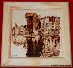 Gdańsk - pirografia | Handmade with love by Karolina