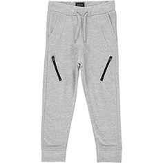Grey Zip Joggers