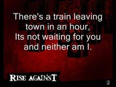 Is this life that you lead? or the life that's  lead for you? will you take the road that's laid out before you? will we cross paths somewhere else tonight.. Rise Against - Paper Wings