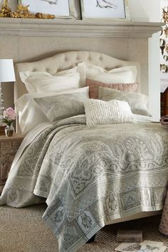 Transform your bed into a serene retreat! Our beautiful Alhambra Tapestry Coverlet is cast in a palette of soft and silvery colors. Expertly woven, this coverlet was crafted in the traditional Flemish weaving style. In a wool-blend, this can easily be enjoyed year-round.