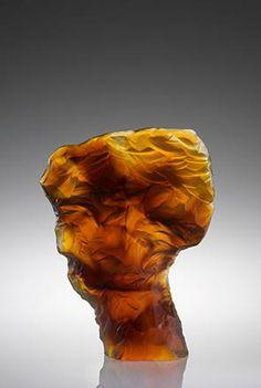 """Peter Bremers Glass Art  CD `11-45, 2011  17 x 13 x 4"""" Kiln Cast glass"""