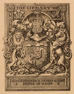 Unicorn , Fauna , Heraldry , Regent/royalty  http://art-exlibris.net/images/large/exlibris_22233.jpg