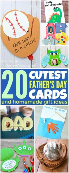 Need gift ideas for Father's Day? This collection has 20 of the cutest cards and homemade gift ideas. These crafts will keep the kids creatively thinking and making a gift dad is sure to love! Homemade Fathers Day Gifts, Diy Father's Day Gifts, Great Father's Day Gifts, Father's Day Diy, Homemade Gifts, Gifts For Kids, Preschool Fathers Day Gifts, Happy Fathers Day Cards, Fathers Day Art