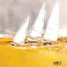 L'oeuvre unique et originale La course au vent a été réalisée par l'artiste Olivier Messas, qui peint des marines très harmonieux, avec des couleurs très lumineuses et variées.