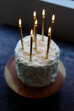 Gold birthday candles