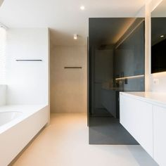 Knokke - Devos - is ourz ML Minimalist Bathroom Design, Bathroom Interior Design, Interior Minimalista, Minimal Home, Bathroom Inspo, Bathroom Ideas, Laundry Room Design, Home Renovation, Interior Architecture