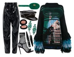 """""""vinyl"""" by themis-fylaktou on Polyvore featuring TIBI, Off-White, Marco de Vincenzo, Gucci and Guerlain"""