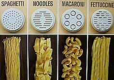 Must find my kitchen aid parts start using them! Kitchen Aid Pasta Recipe, Kitchen Aid Recipes, Kitchen Ideas, Phillips Pasta Maker Recipes, Kitchenaid Pasta Maker, Pasta Formen, Pasta Casera, Noodle Maker, Pasta Shapes