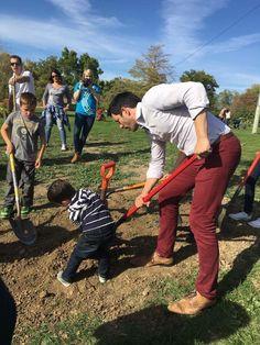 Drew Scott planting trees in Salt Lake City.   October 2016