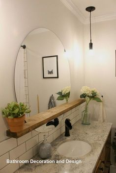 DIY Bathroom Decor Ideas that can be done with cheap Dollar Stores items! These DIY bathroom ideas are perfect for renters and people on a budget. Transform your small bathroom with these classy & easy ideas! Diy Bathroom, Bathroom Layout, Simple Bathroom, Bathroom Flooring, Master Bathroom, Bathroom Ideas, Bathroom Organization, Minimal Bathroom, Bathroom Closet