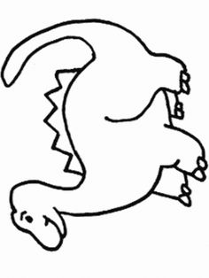 Looking for a Cartoon Dinosaur Coloring Pages. We have Cartoon Dinosaur Coloring Pages and the other about Coloring Pages it free. Dinosaur Outline, Dinosaur Template, Dinosaur Stencil, Animal Outline, Dinosaur Printables, Dinosaur Drawing, Cartoon Dinosaur, Shape Coloring Pages, Online Coloring Pages