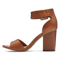 Women's Noemi Quarter Strap Sandals Merona - Cognac (Red) 5.5