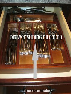 CLEAN MAMA: organizing tip for your drawers