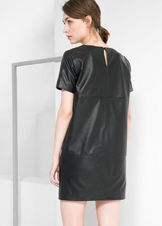 MANGO - Leather dress #FW14