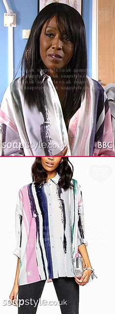 Found: Denise's Stripe Shirt in EastEnders [✚Click photo for info]