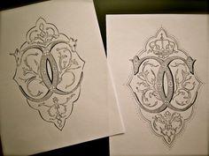 "Monograms by Rajiv Surendra aka ""lettersinink"" Monogram Design, Monogram Letters, Logo Design, Design Letters, Web Design, Embroidery Monogram, Embroidery Patterns, Invitation Paper, Invites"