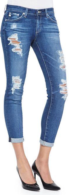 AG Stilt Destroyed Cropped Jeans, 11-Year Journey