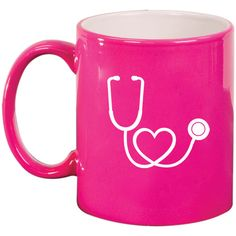 11oz Ceramic Coffee Tea Mug Glass Cup Stethoscope in Shape of Heart... ($15) ❤ liked on Polyvore featuring home, kitchen & dining, drinkware, black, drink & barware, home & living, mugs, ceramic mugs, black coffee mug and glass tea mugs