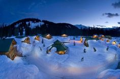 Northern British Columbia, Canada / 34 Places That Are Even Better During The Winter (via BuzzFeed)