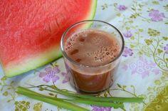 Suco de melancia com capim cidreira