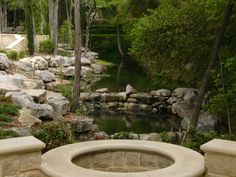 fire pit and a view water feature kerry burt garden galleries hgtv